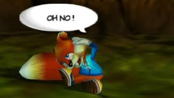 Conker is hung over