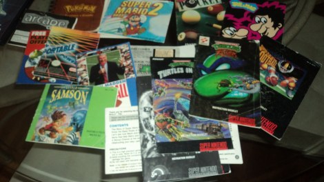 video game Manual Lot